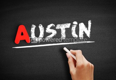 Business: Austin text on blackboard #00759