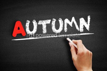 Business: Autumn text on blackboard #00760