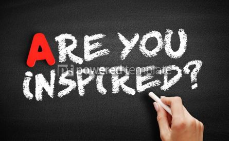 Business: Are You Inspired text on blackboard #00762