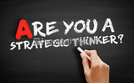 Business: Are You a Strategic Thinker text on blackboard #00766