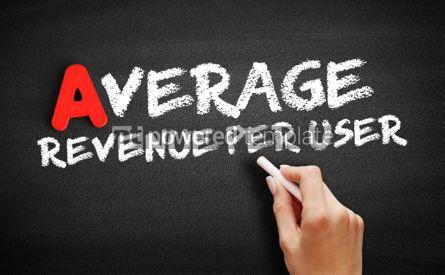 Business: Average Revenue Per User text on blackboard #00767