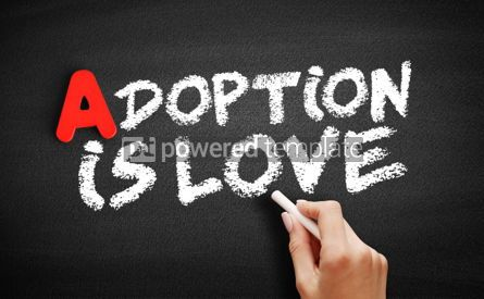 Business: Adoption Is Love text on blackboard #00769