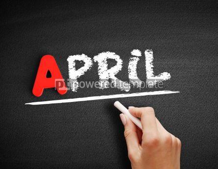 Business: April text on blackboard #00771