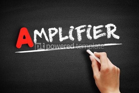 Business: Amplifier text on blackboard #00772