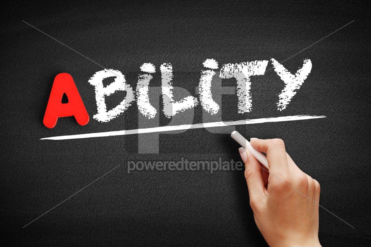 ABILITY text on blackboard, 00774, Business — PoweredTemplate.com