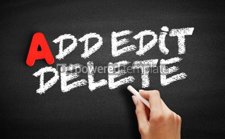 Business: Add Edit and Delete text on blackboard #00777