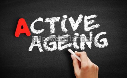 Business: Active ageing text on blackboard #00778