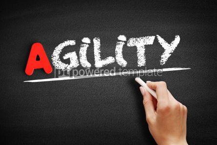 Business: Agility text on blackboard #00779