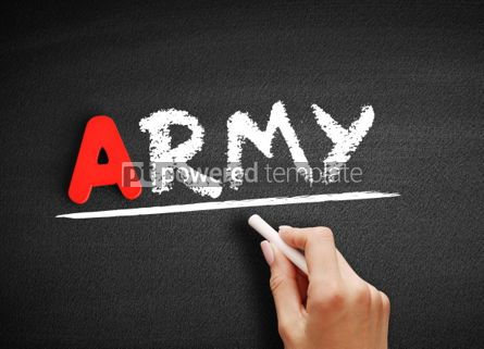 Business: Army text on blackboard #00783