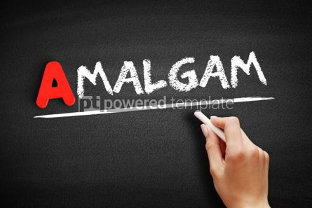 Business: Amalgam text on blackboard #00789