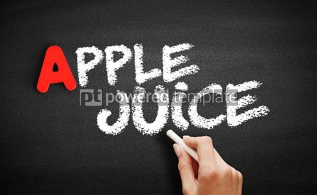 Business: Apple juice text on blackboard #00791