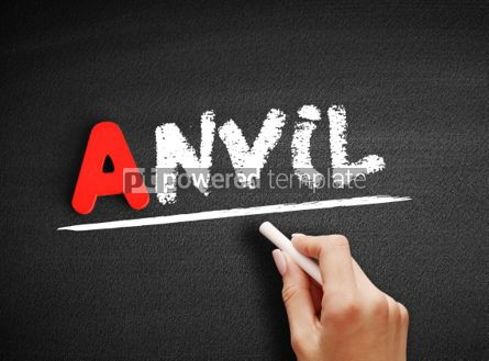 Business: Anvil text on blackboard #00794