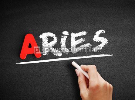 Business: Aries text on blackboard #00795