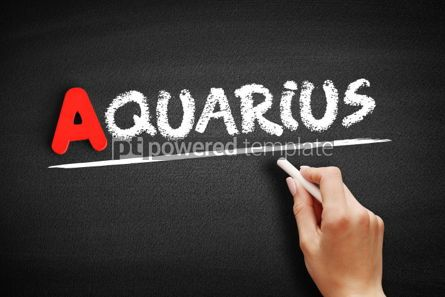 Business: Aquarius text on blackboard #00796