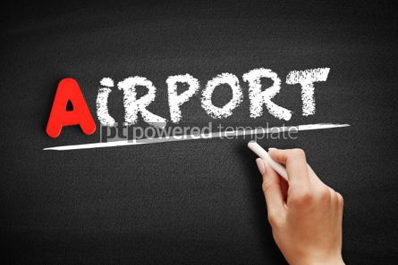 Business: Airport text on blackboard #00801