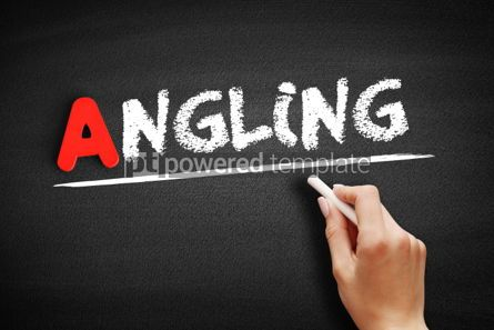 Business: Angling text on blackboard #00802