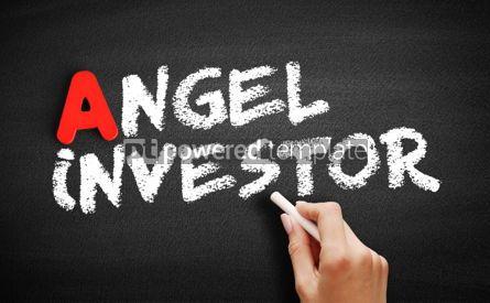 Business: Angel investor text on blackboard #00804