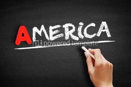 Business: America text on blackboard #00805