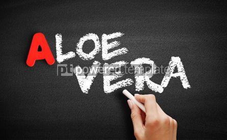 Business: Aloe vera text on blackboard #00806