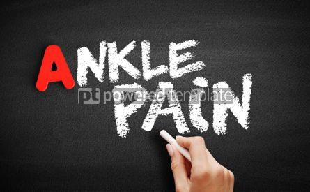 Business: Ankle pain text on blackboard #00808