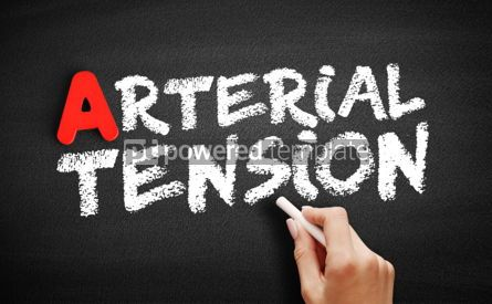 Business: Arterial tension text on blackboard #00810