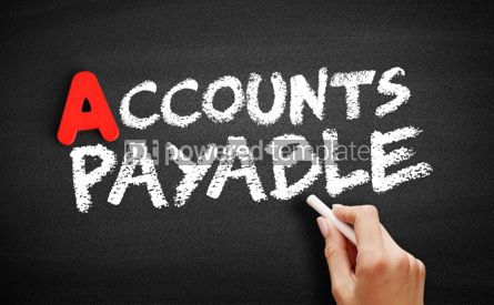 Business: Accounts Payable text on blackboard #00813