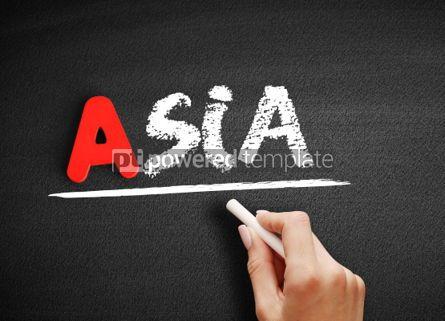 Business: Asia text on blackboard #00817
