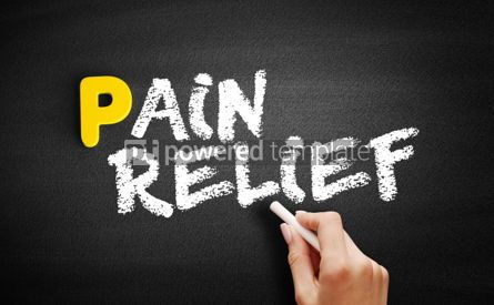 Business: Pain Relief text on blackboard #00818