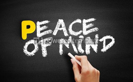 Business: Peace of Mind text on blackboard #00819