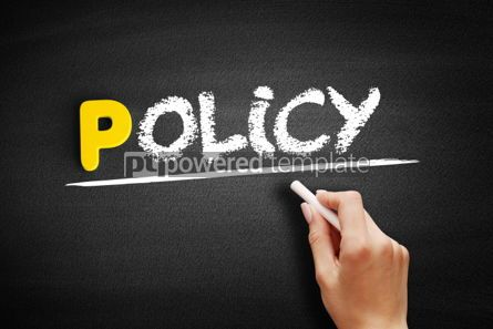 Business: Policy text on blackboard #00822