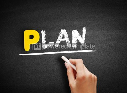 Business: Plan text on blackboard #00823