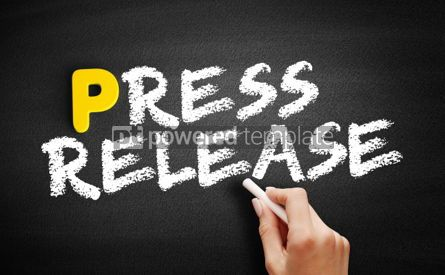 Business: Press Release text on blackboard #00826