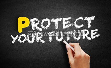 Business: Protect Your Future text on blackboard #00829