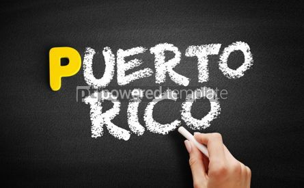 Business: Puerto Rico text on blackboard #00830