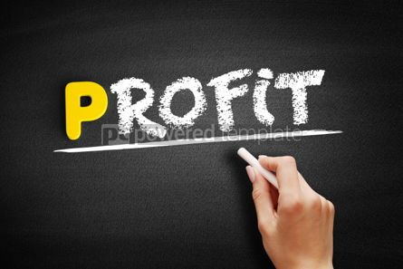 Business: PROFIT text on blackboard #00832