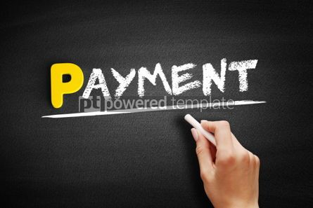 Business: PAYMENT text on blackboard #00833