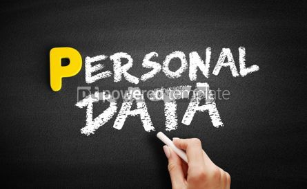 Business: Personal Data text on blackboard #00834