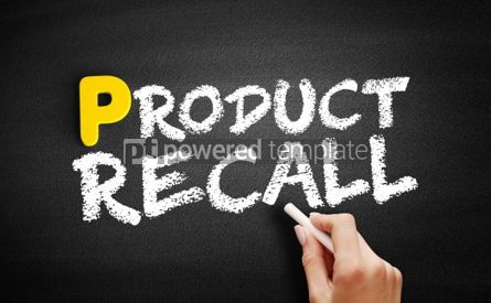 Business: Product Recall text on blackboard #00838