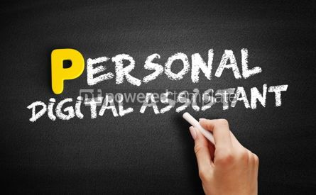 Business: Personal Digital Assistant text on blackboard #00840