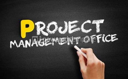 Business: Project Management Office text on blackboard #00841