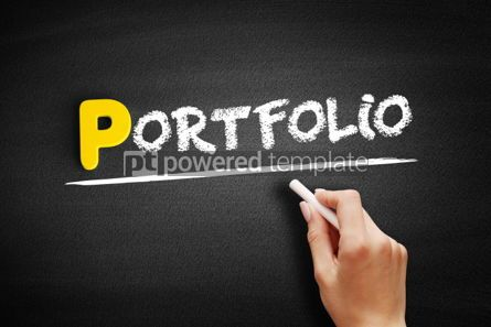 Business: Portfolio text on blackboard #00842