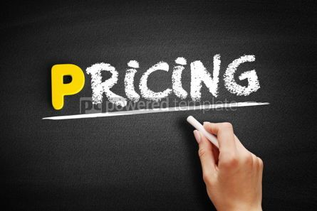 Business: Pricing text on blackboard #00844