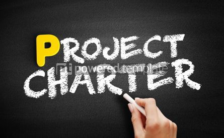 Business: Project Charter text on blackboard #00846