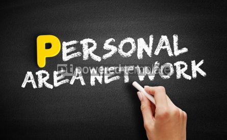 Business: Personal Area Network text on blackboard #00847