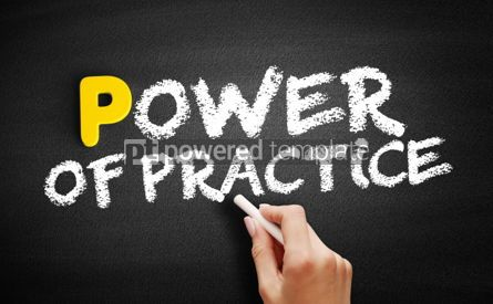 Business: Power Of Practice text on blackboard #00851
