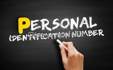 Business: Personal Identification Number text on blackboard #00852