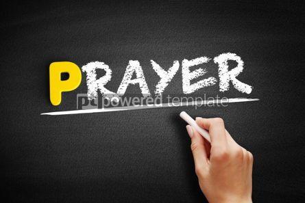 Business: Prayer text on blackboard #00854