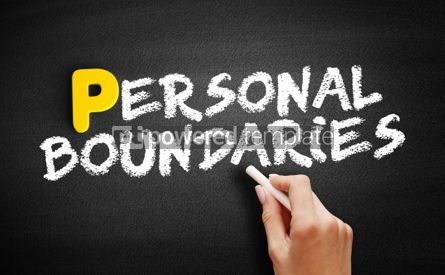 Business: Personal boundaries text on blackboard #00855