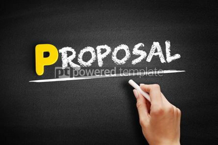 Business: Proposal text on blackboard #00856