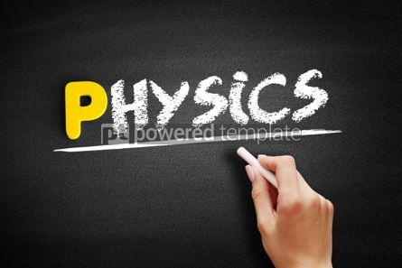 Business: Physics text on blackboard #00857
